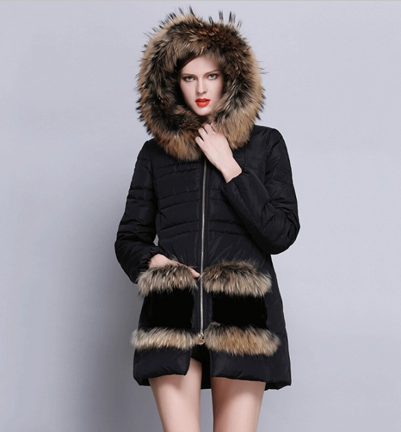 Vilanya Black Thick Down Filled Coat